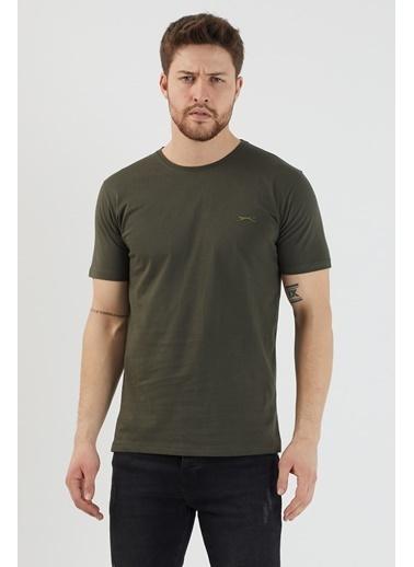 Slazenger Slazenger Sander Erkek T-Shirt  Haki
